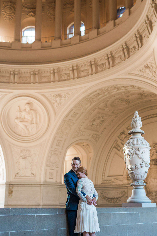 Intimate wedding photography pose