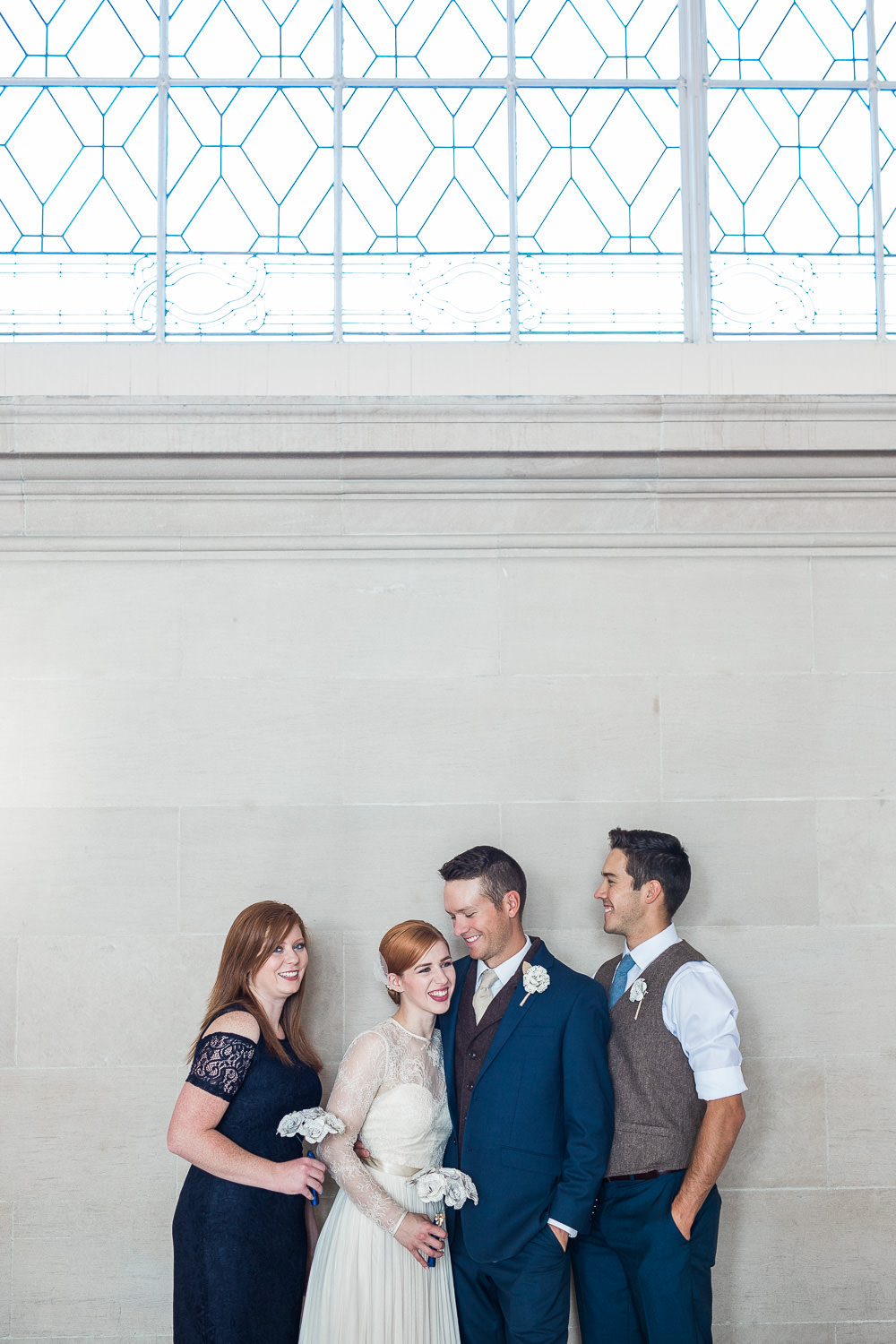 Intimate elopement wedding party San Francisco CA