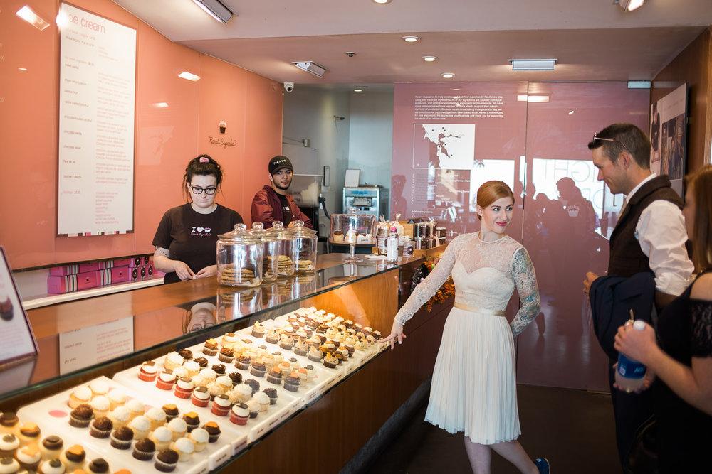 Unique wedding day activity bakery