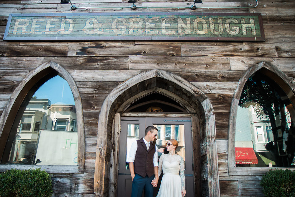 Reed & Greenough Piano bar urban wedding portraits