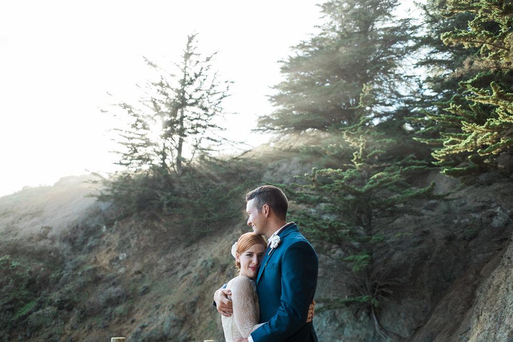 San Francisco Marin Highlands Adventure Wedding portraits