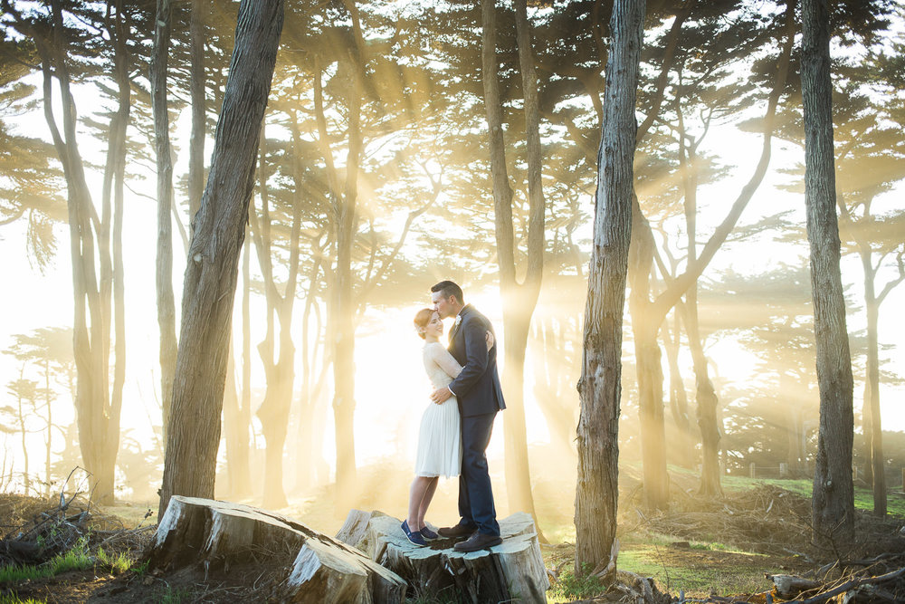 Incredible Lands End San Francisco Elopement Photography