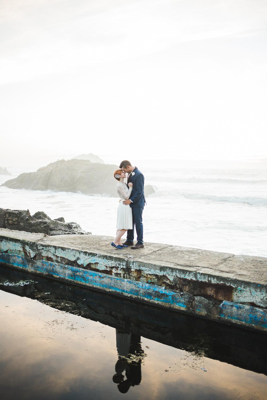 Sutro Baths Pacific Ocean Elopement wedding pictures San Fran CA