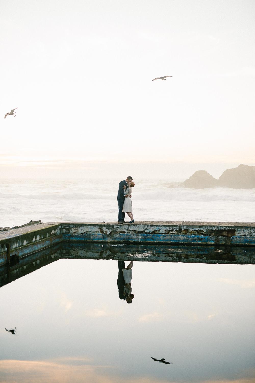 Pacific Coast San Francisco California Sutro Baths elopement photographers
