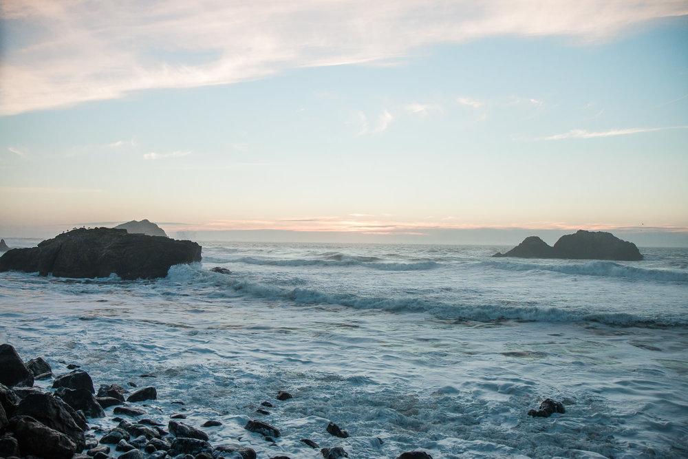 Pacific Ocean coast San Francisco California Landscape