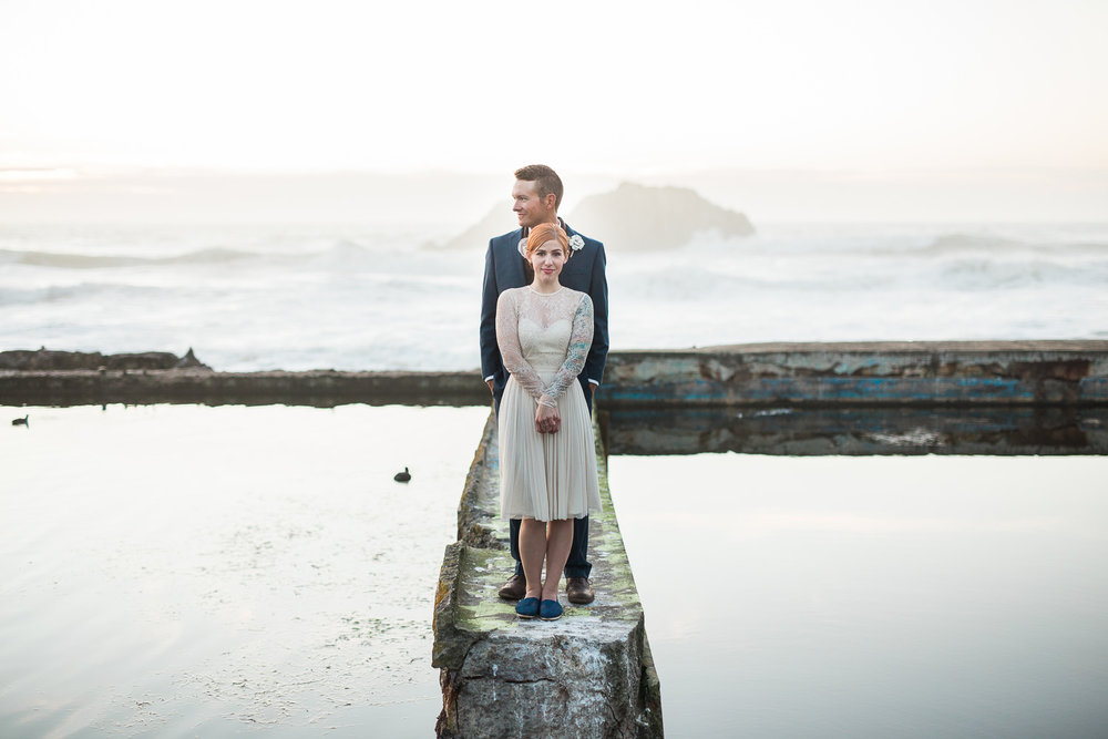 California adventure destination wedding photographers Sutro Baths