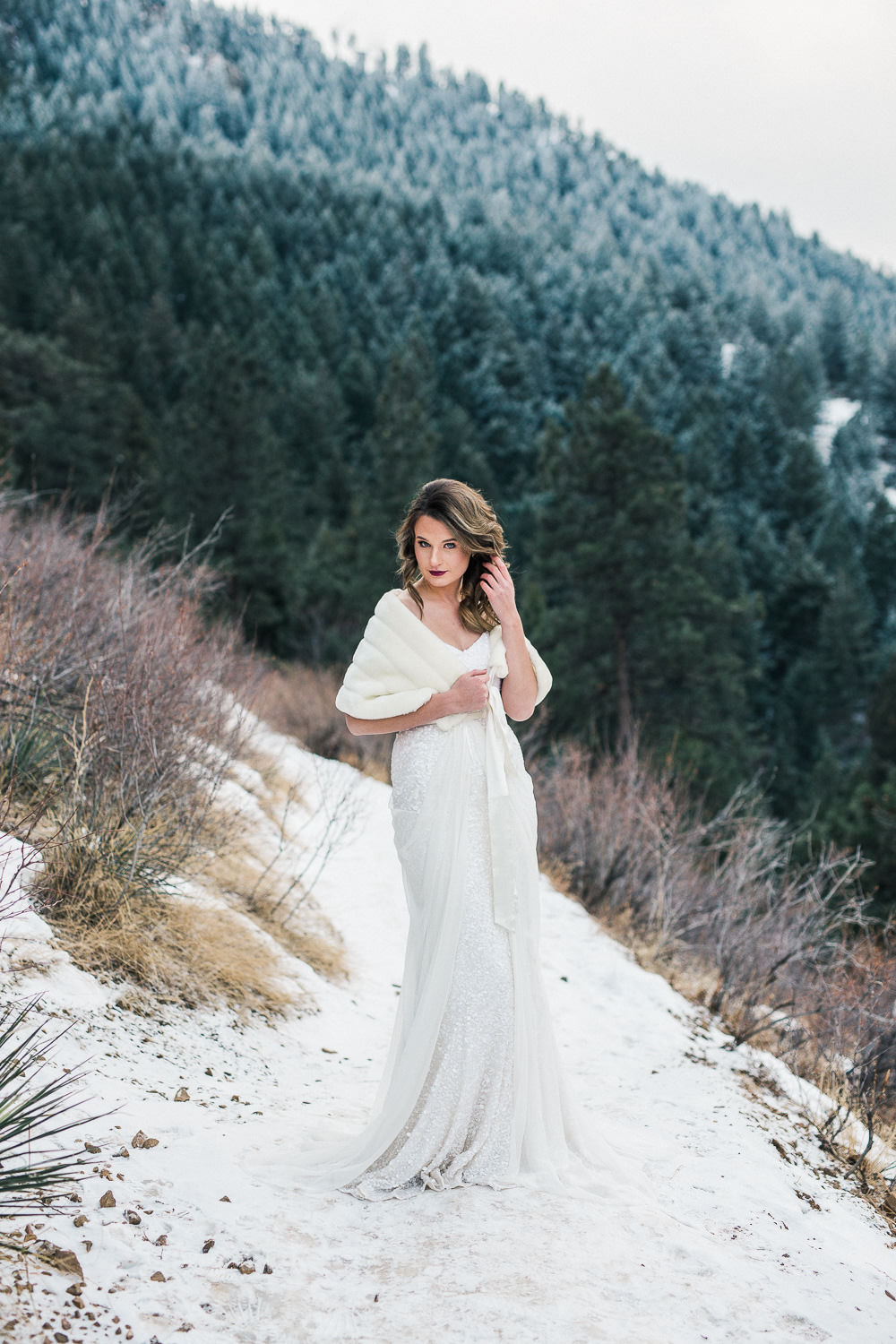 Emma and Grace Bridal wedding dress Colorado Elopement