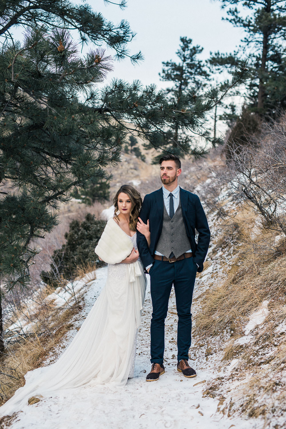 Colorado winter elopement Lookout Mountain photography