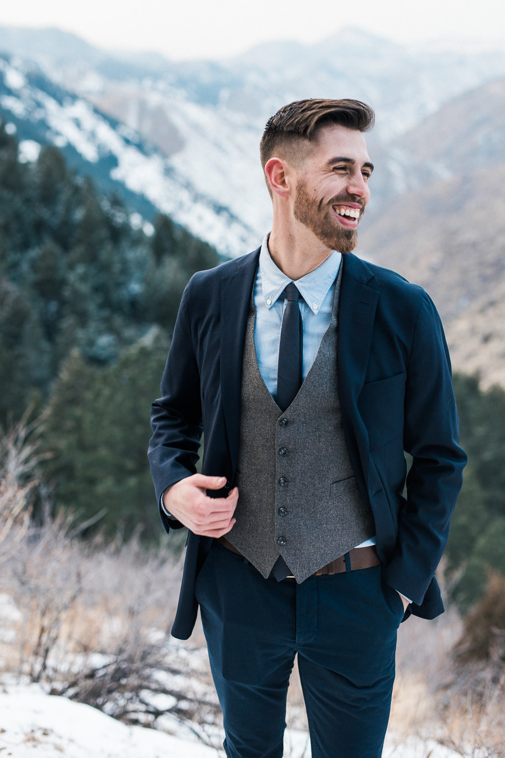 Ratio Clothing custom tailored groomsmen suit Denver Colorado