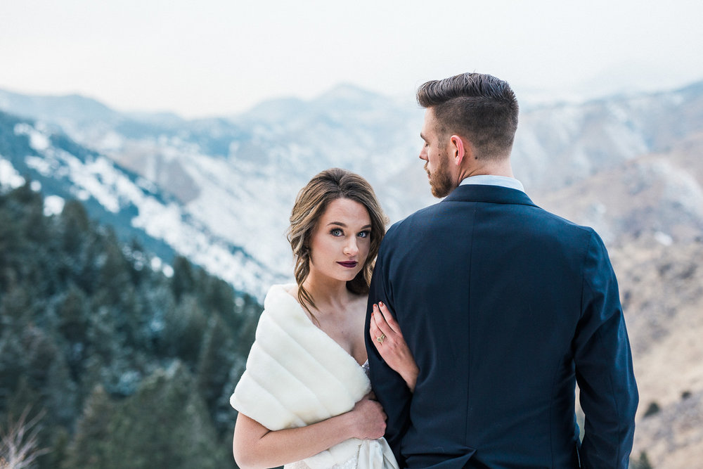 Rocky Mountain Winter Elopement Inspiration Photographers