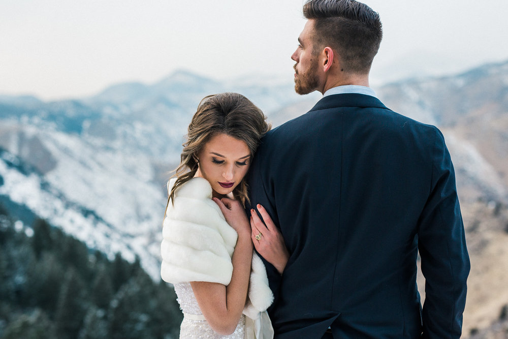 Rocky Mountain winter wedding adventure photographers