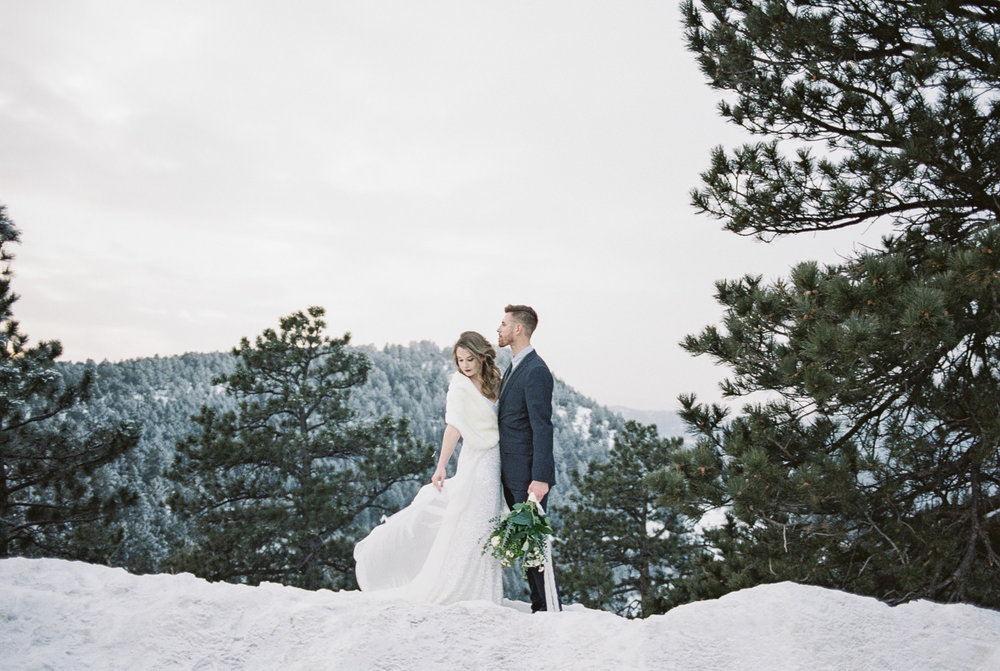 Fuji 400h fine art film Colorado elopement photographers