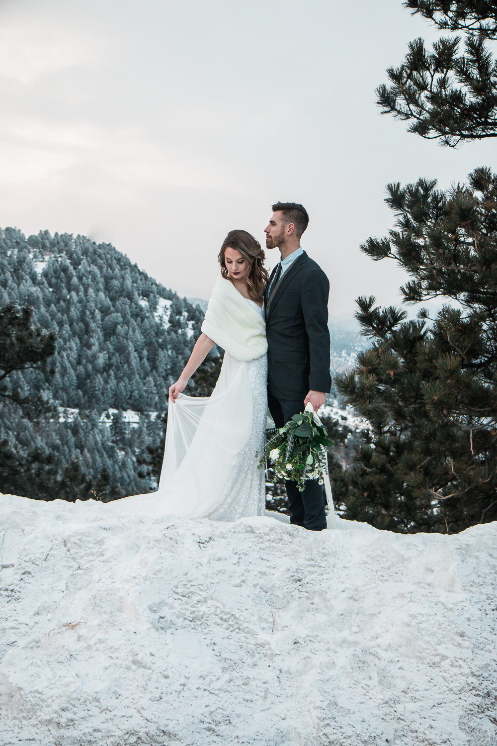 Colorado winter mountain wedding photographers