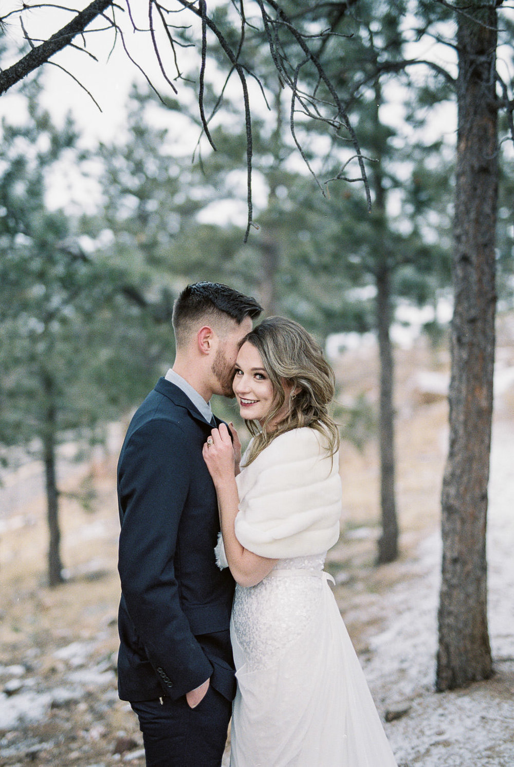Fine art film wedding photographer Colorado Rocky Mountains