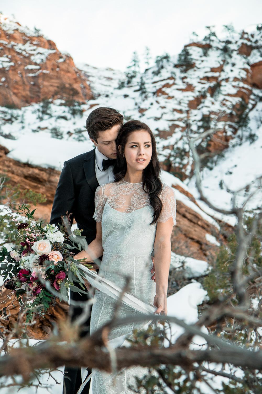 Zion Elopement Winter Utah Wedding Photographers