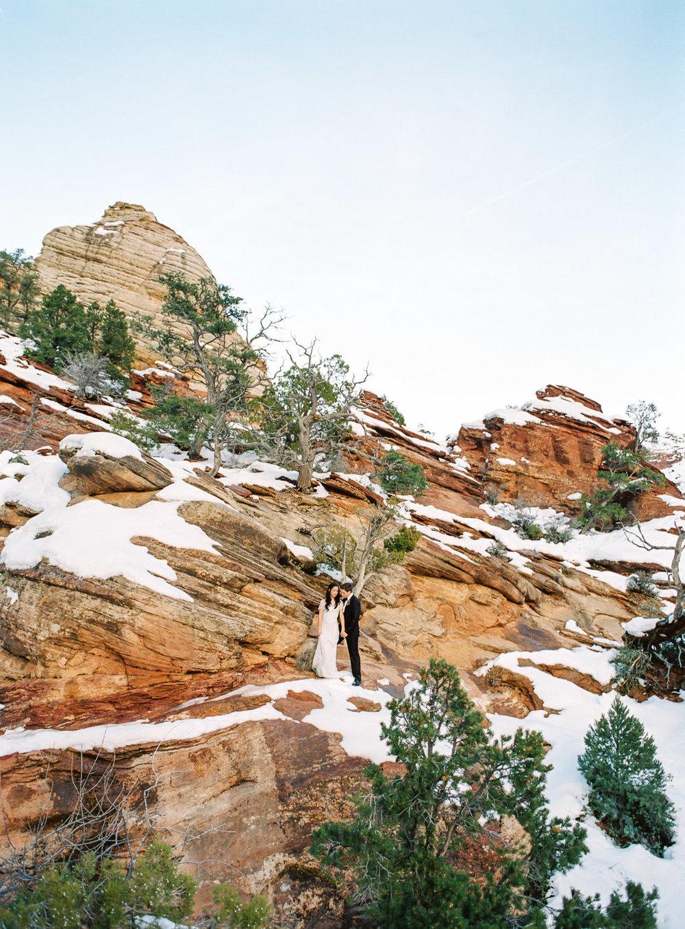 Canyon Overlook trail elopement fine art film wedding photographer Fuji 400h