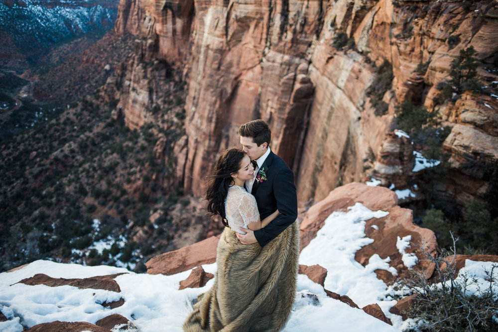 Zion National Park epic elopement photographers