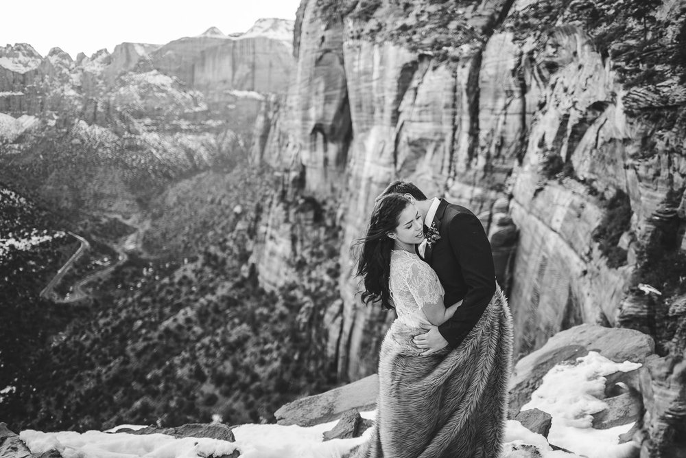 Iconic Zion National Park hikes Wedding Photography