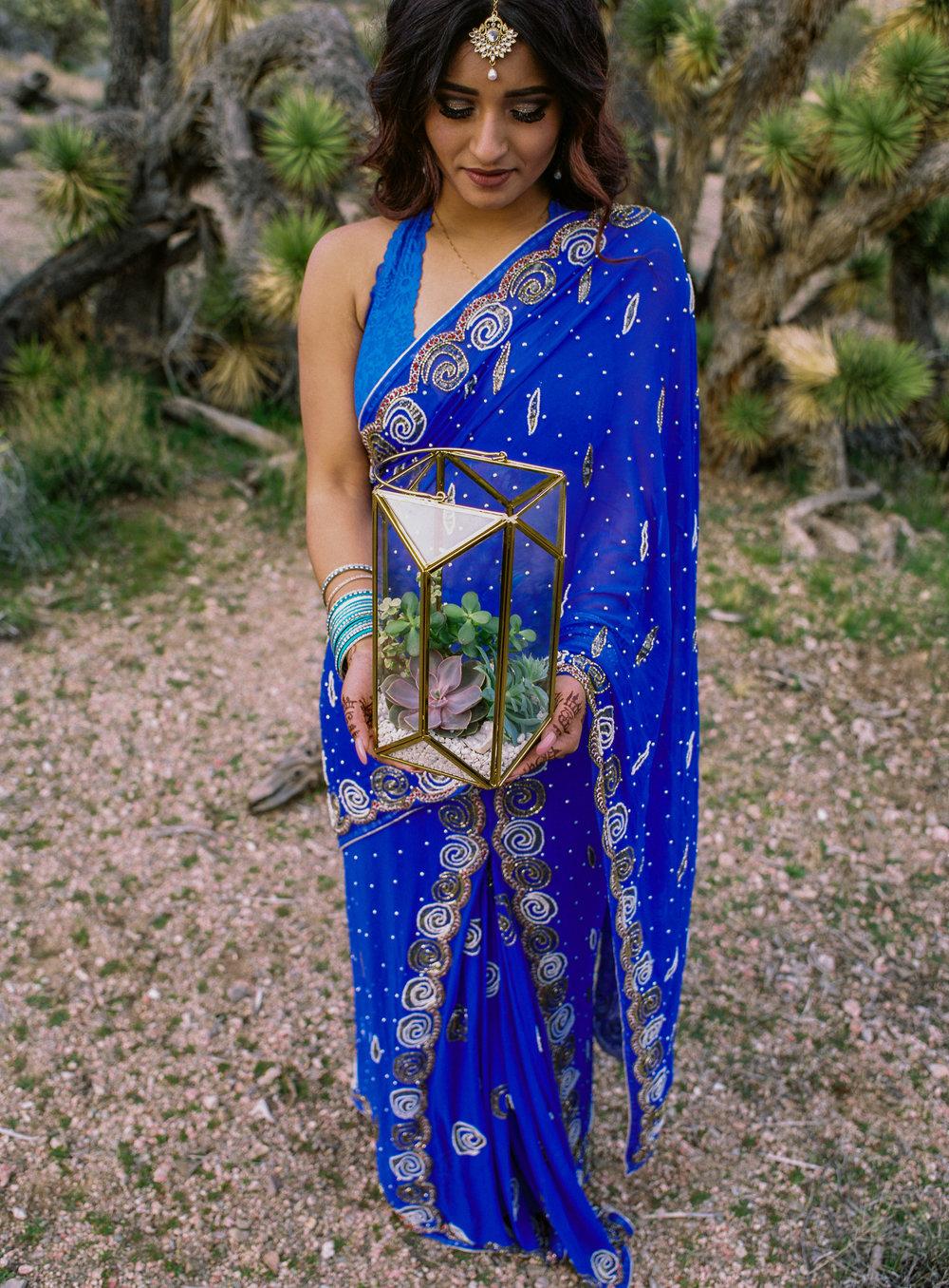 Indian bride desert elopement Fine art film photographer Fuji 400h Kyle Loves Tori Photography