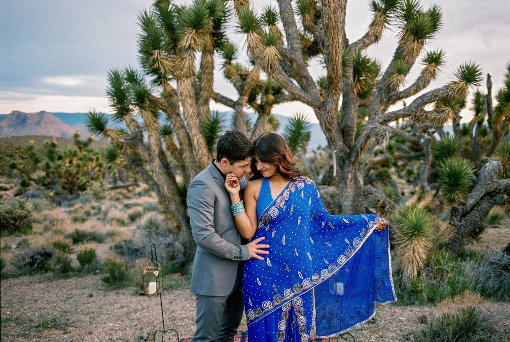 Joshua tree elopement on fine art film Fuji 160NS Kyle Loves Tori Photography