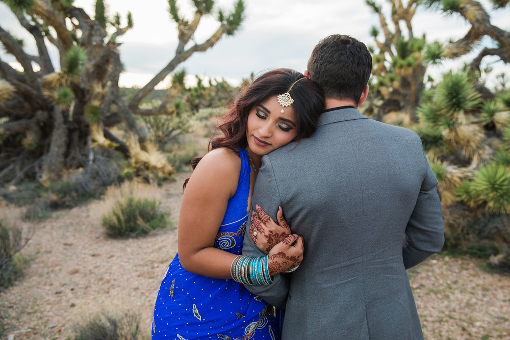 Nepali bride in traditional saree elopes in the Utah desert Kyle Loves Tori Photography