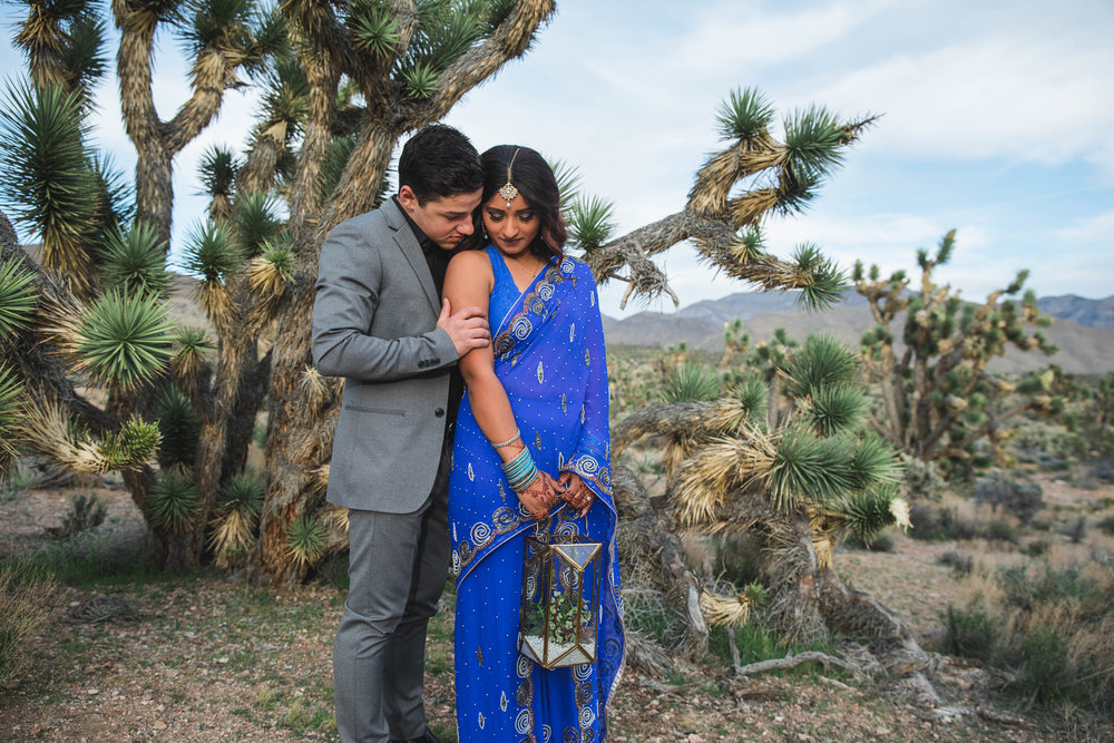 Ethnic adventure elopement in Joshua Tree desert Southern Utah Kyle Loves Tori Photography