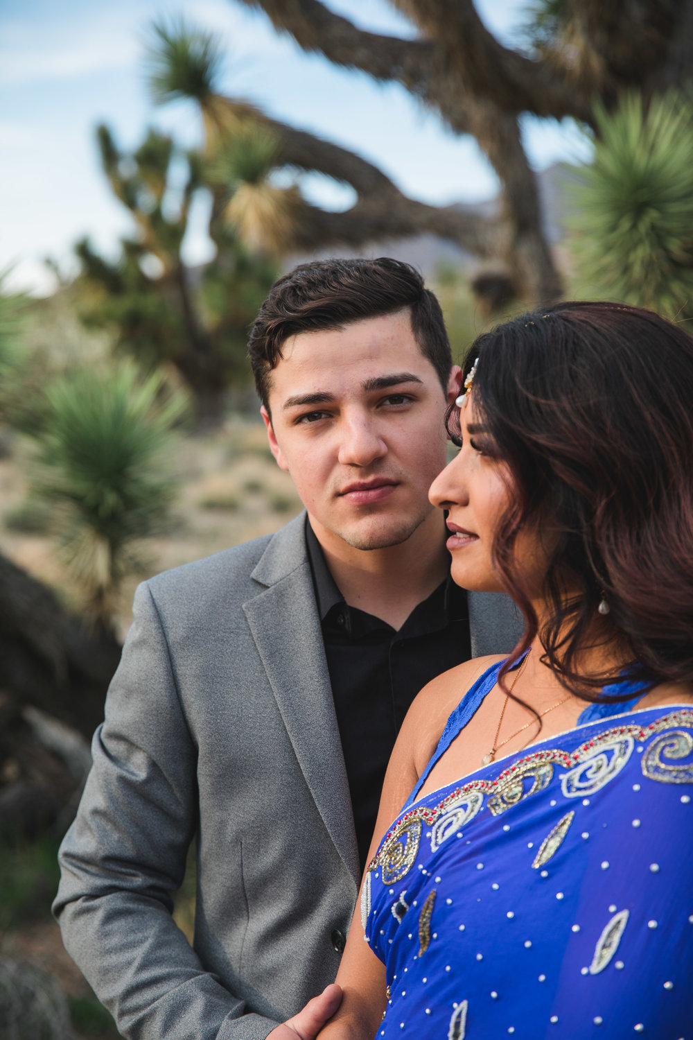 Attractive interracial couple elope in the desert Southern Utah Kyle Loves Tori Photography