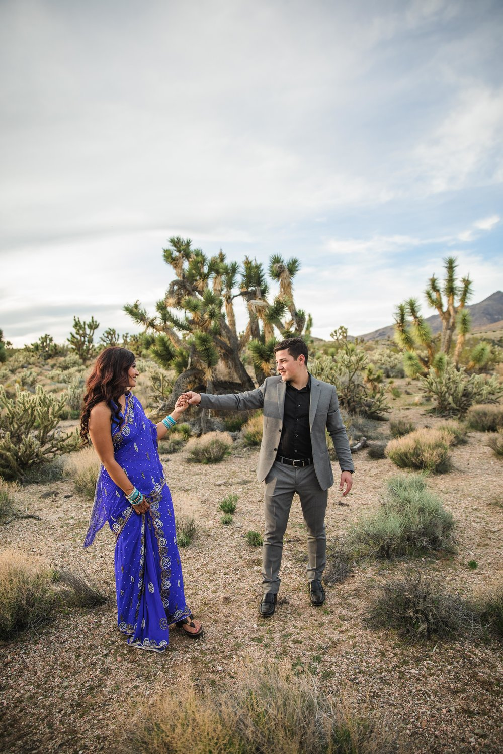Dancing in the desert indian wedding elopement Kyle and Tori Sheppard photographers