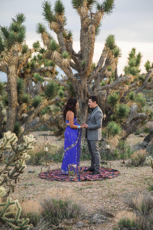 Joshua Tree elopement vow exchange Kyle Loves Tori Photography