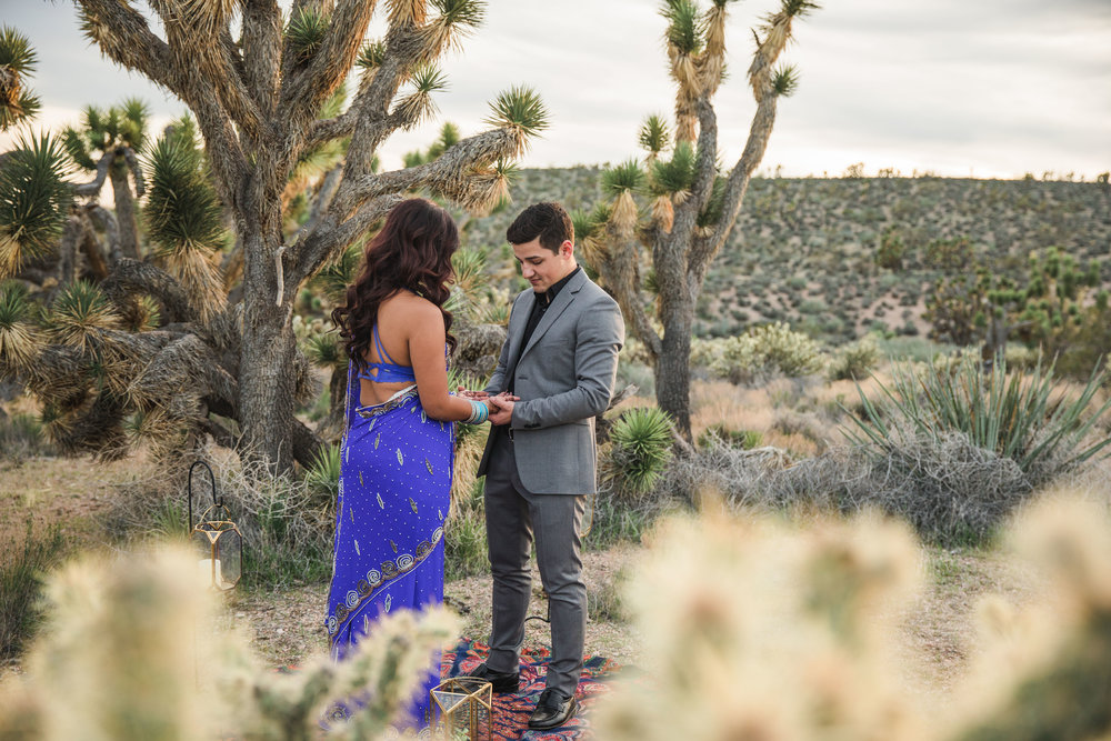 Desert elopement ceremony vow exchange Kyle Loves Tori Photography
