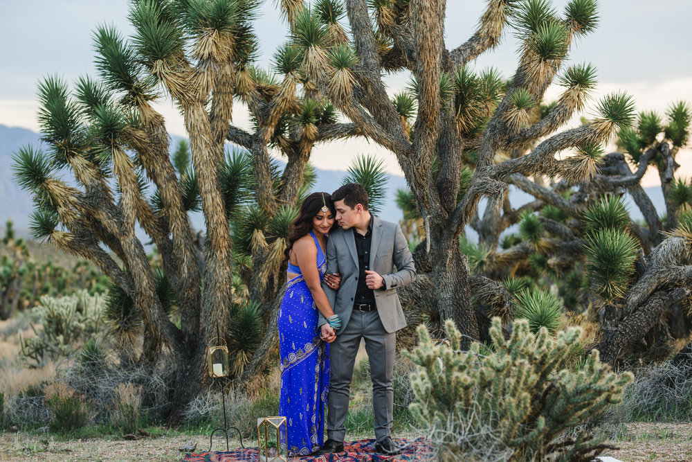 Epic intimate elopement interracial ethnic couple Joshua Tree Desert Kyle Loves Tori Photography
