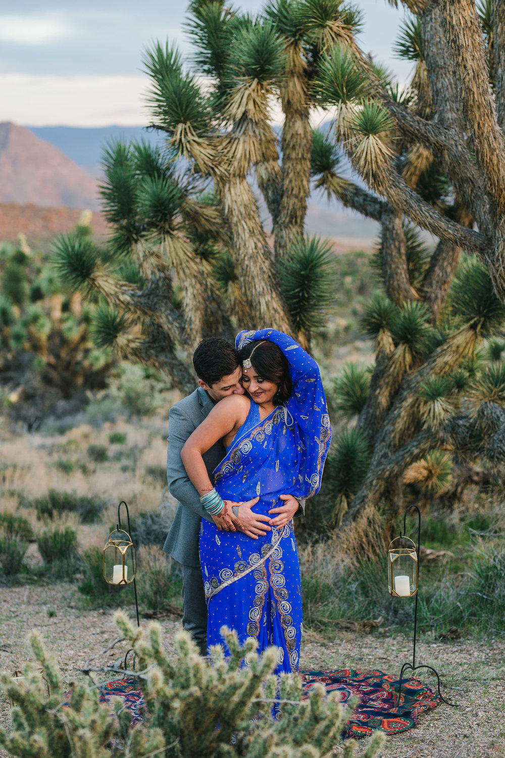 Elopement wedding portraits in the Joshua Tree desert Utah Kyle Loves Tori Photography