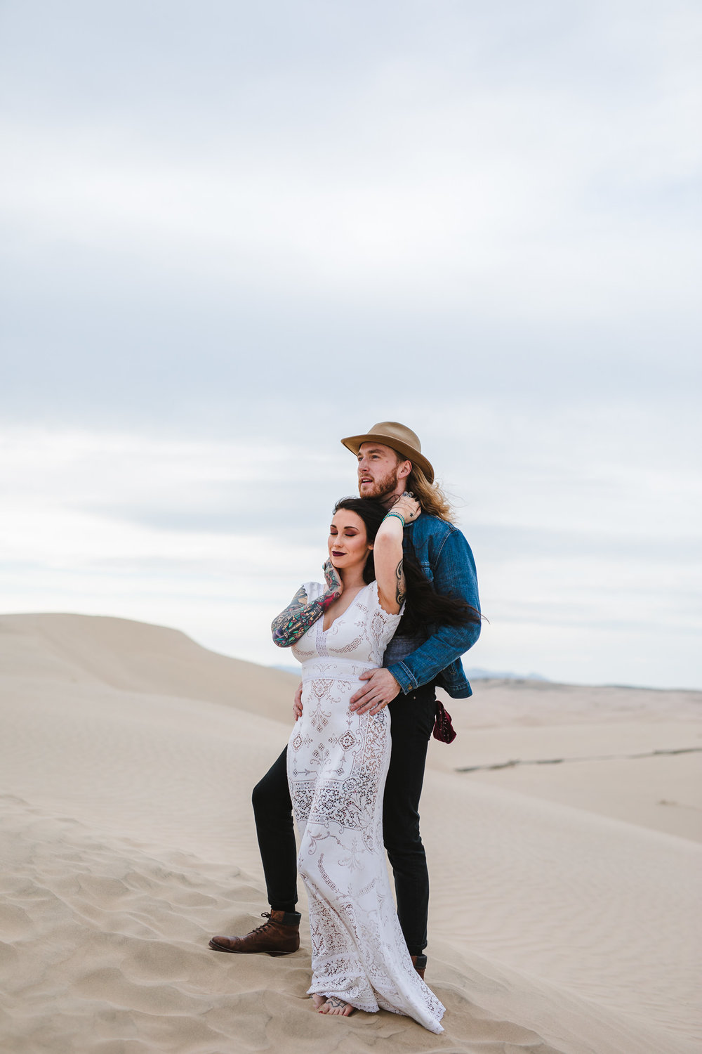 Adventure Elopement Photographers Little Sahara Sand Dunes Eureka Utah