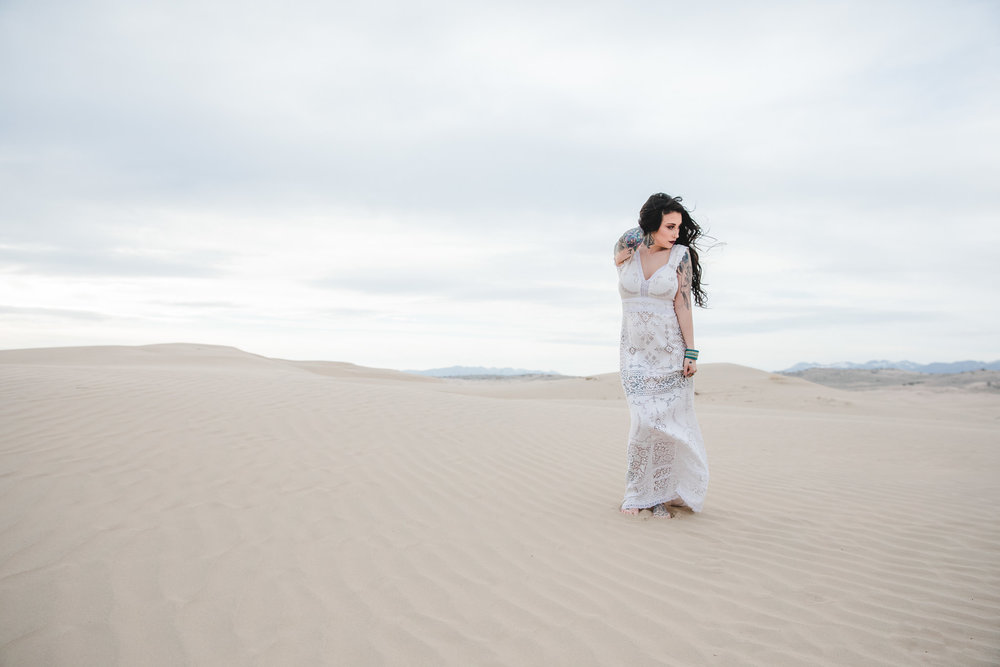 Saldana Vintage Boho Wedding Dress Utah