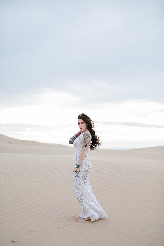 Boho Desert Bride Sand Dunes Wedding Utah