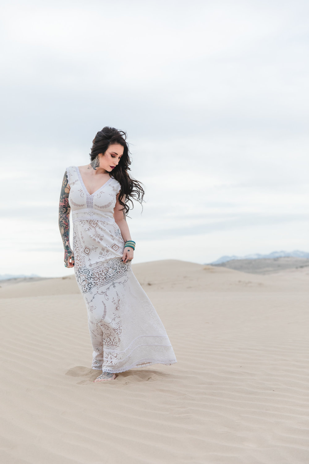 Saldana Vintage Boho Elopement Dress