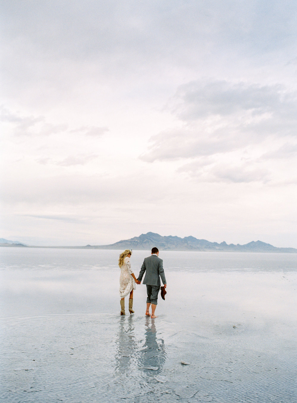 Fuji 400h fine art film photographer bonneville salt flats bridals utah