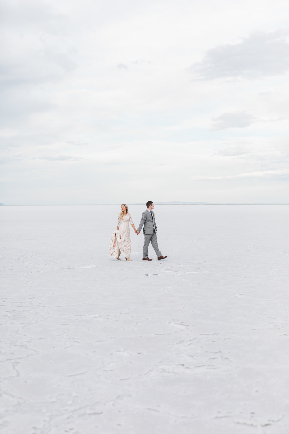 Bonneville Salt Flats Utah Adventure Wedding Photography