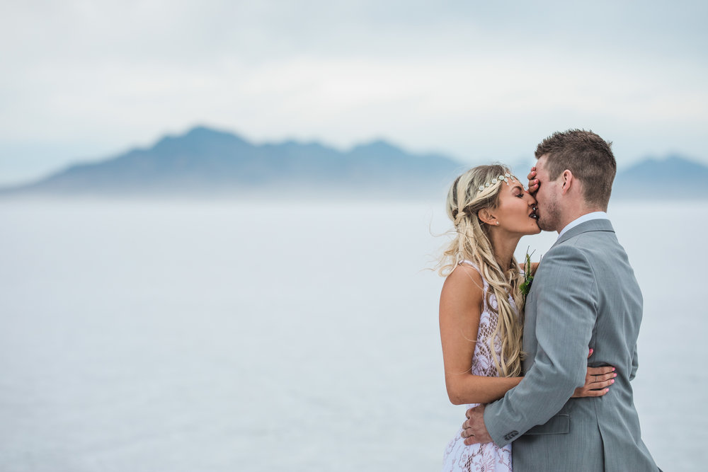 Fine art wedding photographers Bonneville Speedway elopement