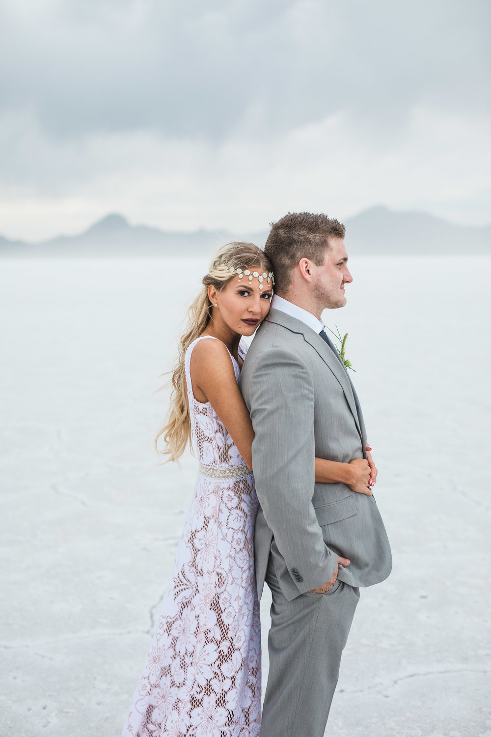 Kyle Loves Tori Kenny Dawn bridal collaboration Bonneville Salt Flats