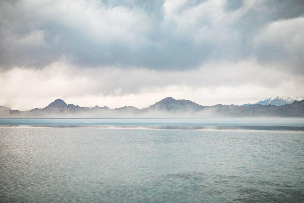 Bonneville Salt Flats epic landscape detail