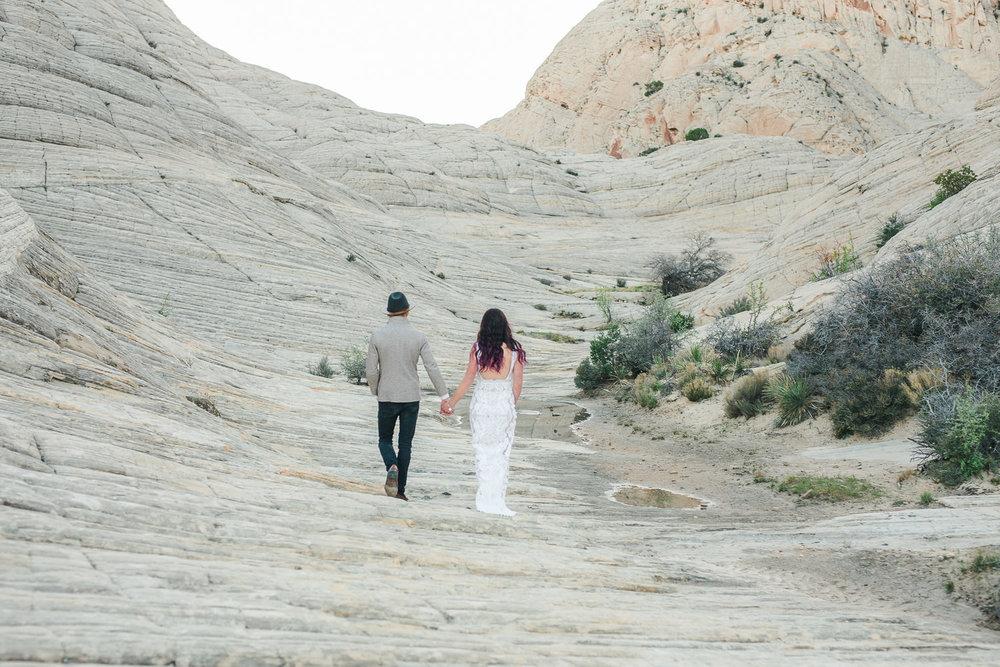 Beautiful boho elopement in Snow Canyon State Park Utah
