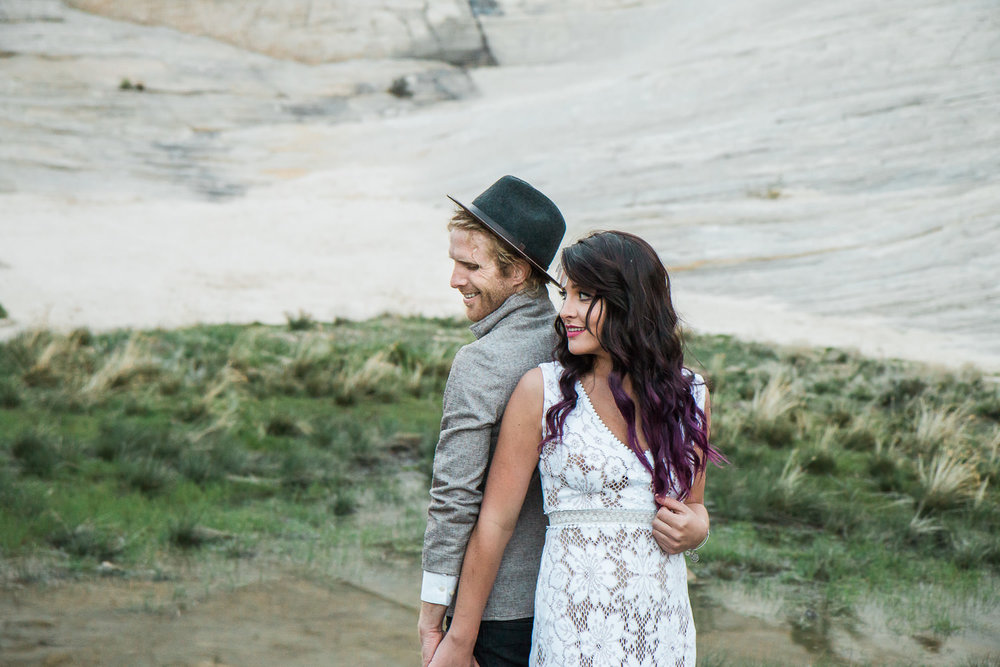 Desert oasis adventure elopement wedding pictures Kyle Loves Tori Photography