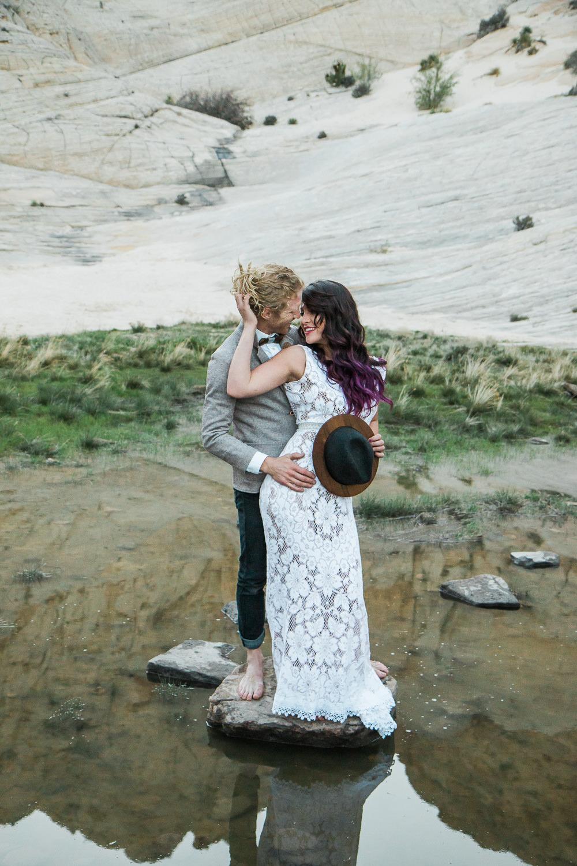 Desert Oasis adventure wedding Saint George Utah