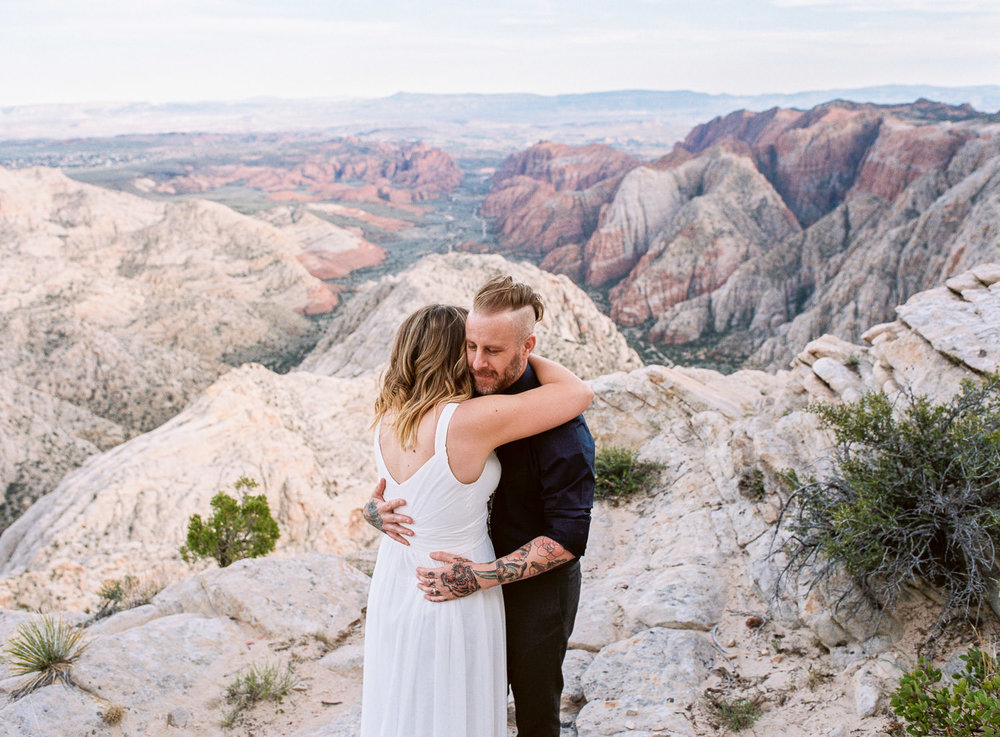 Fine art film photographer southern Utah vow renewal