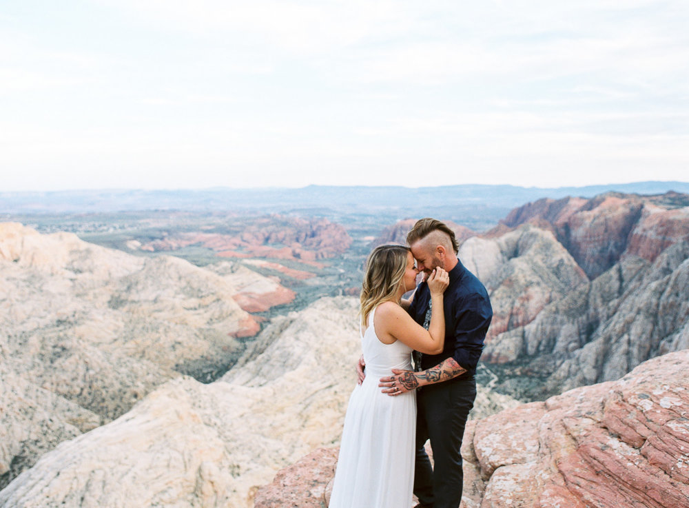 Fine art film adventure vow renewal photographers Snow Canyon State Park
