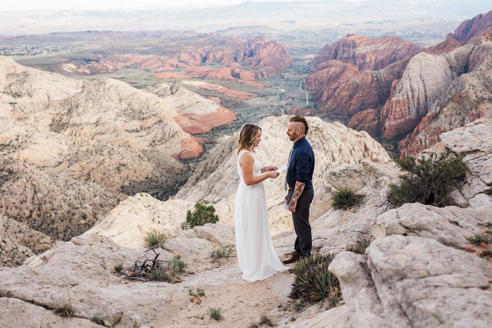 Epic cliffside vow renewal Snow Canyon State Park Saint George Utah