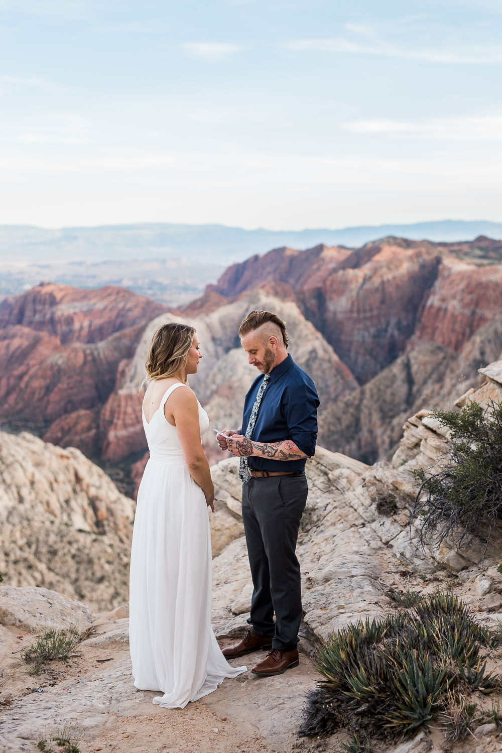Couple exchanges vows for anniversary with epic views Southern Utah