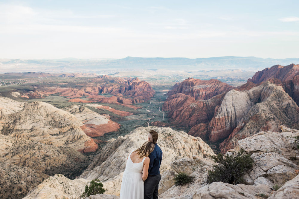 Epic Vow renewal session near Zion National Park