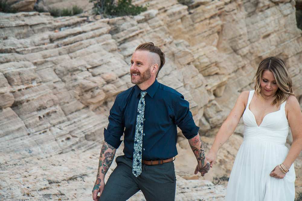 Intimate vow renewal in the desert Kyle Loves Tori Photography